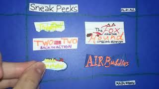 Disney dvd Sneak Peeks menu US and UK