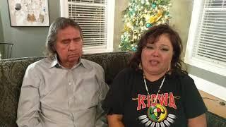 Frank LaMere and Renita Chalepah, Mother of Zachary Bear Heels, Speak