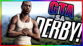 ONLINE DERBY!~GTA San Andreas Multiplayer Mod (SAMP) Funny Moments w/FlyGamer