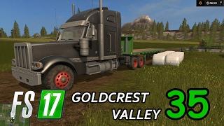 FS17 - Goldcrest Valley. Серия 35 - Обмотка и продажа тюков