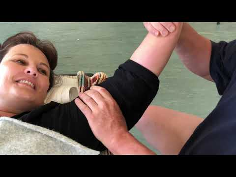 Shoulder massage. Deep tissue Raynor massage of the arm and shoulder part 4 in New Zealand