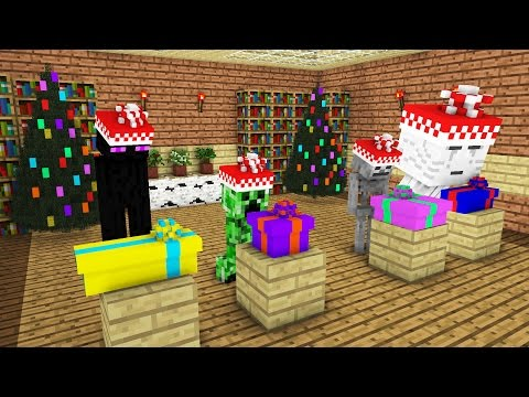 Monster School: Christmas Presents -- Cubic Minecraft Animation