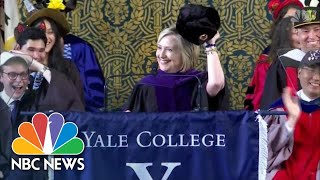Hillary Clinton Sports Russian Hat During Yale Speech | NBC News
