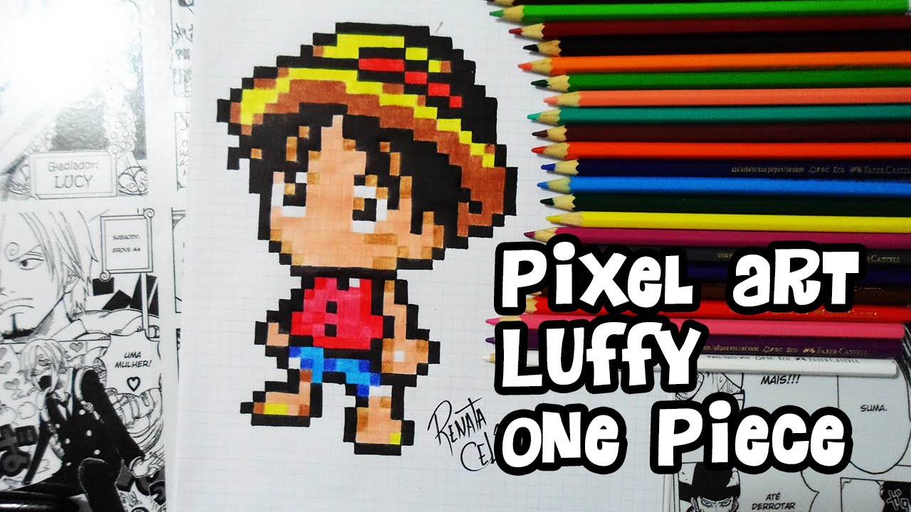 Pixel Art Luffy One Piece Youtube
