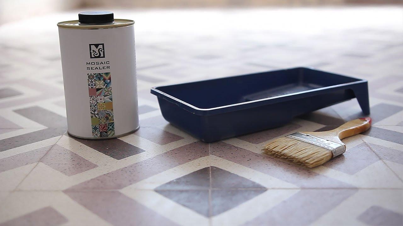 Granito Tiles Sealing (Mosaic Sealer) - YouTube