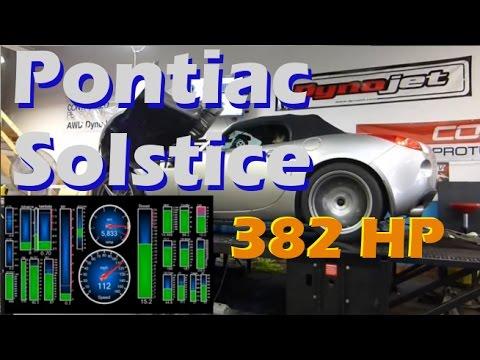 Mega Mad Solstice on the Dyno - 382 hp!? Ecotec LE5 2.4L
