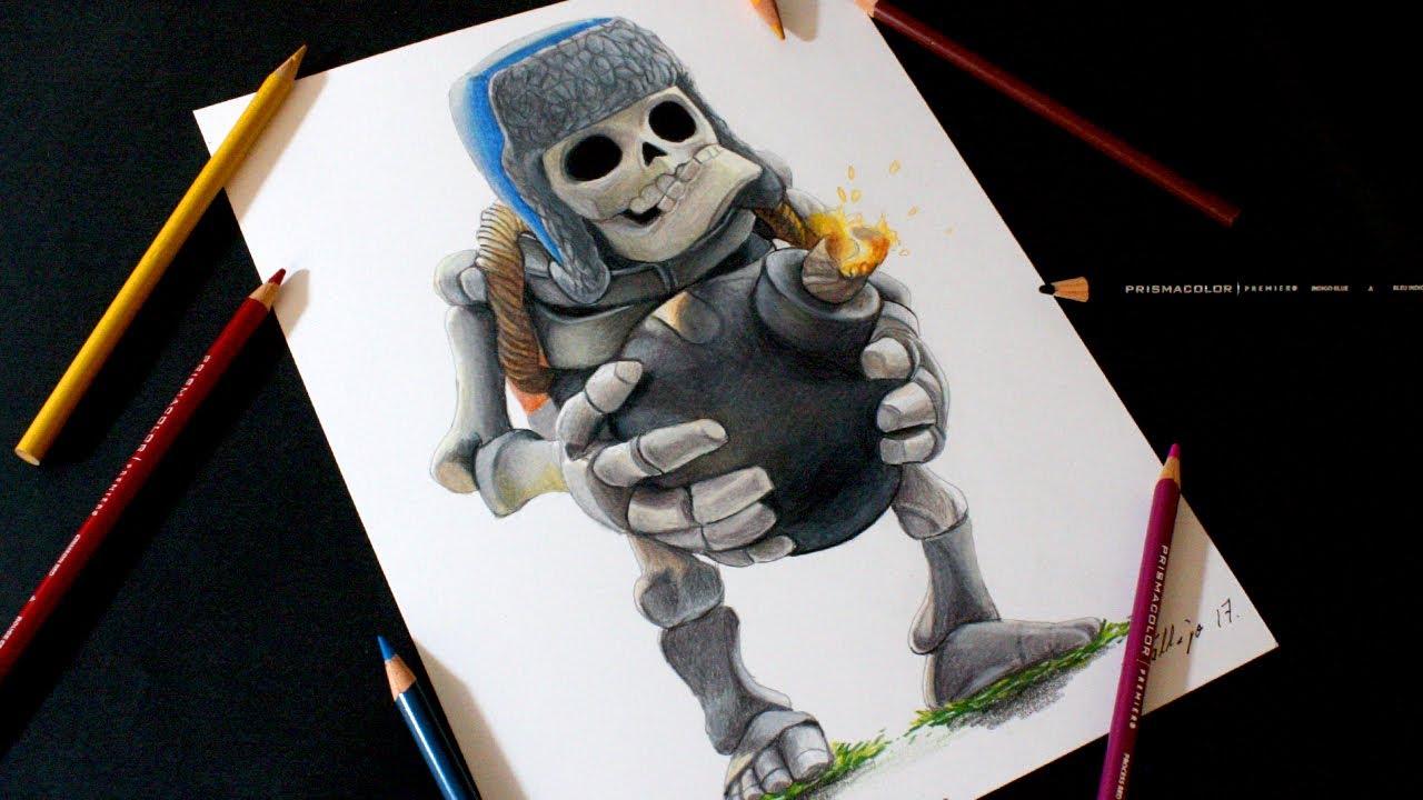Como Dibujar Al Principe Oscuro: Como Dibujo Al Esqueleto Gigante De Clash Royale