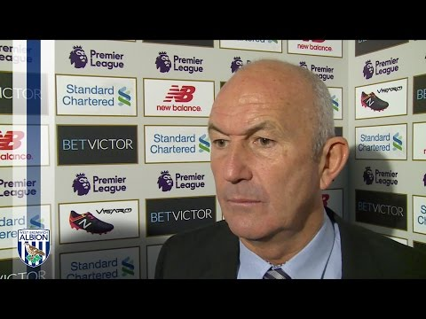 Tony Pulis reacts to Albion's 2-1 defeat by Liverpool in the Premier League