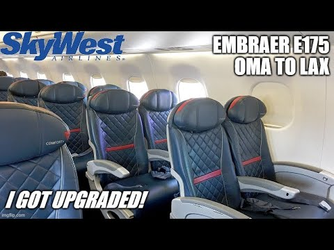 TRIP REPORT | SkyWest | Embraer E175 | Omaha to Los Angeles | Economy+