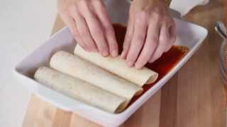 Easy Chicken Recipe - How To Make Chicken Enchiladas
