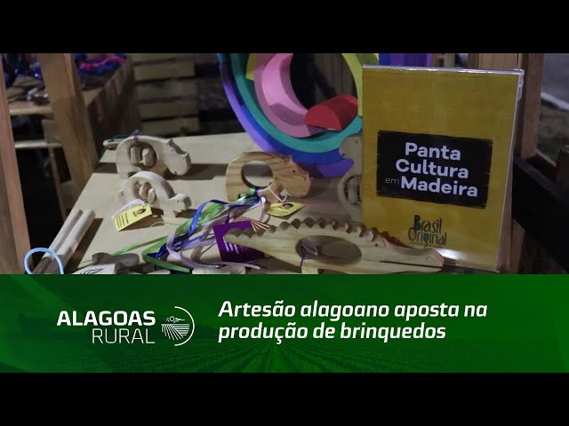 Artesão alagoano aposta na produção de brinquedos educativos de madeira