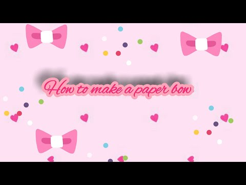 How to make paper bow / Everyday DIYS ❤