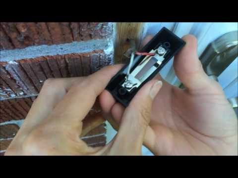 how to fix a doorbell button quick easy door bell button replacement on this old house repair. Black Bedroom Furniture Sets. Home Design Ideas