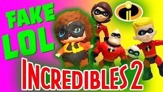 Disney Pixar Incredibles 2 Unboxing with FAKE Elastigirl LOL Doll and Baby Jack Jack!