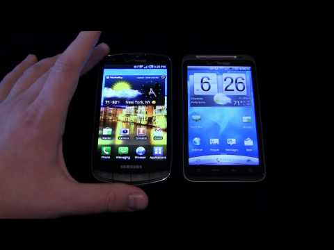 Samsung DROID Charge vs. HTC Thunderbolt Dogfight Part 1
