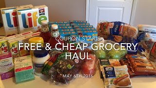 FREE & CHEAP GROCERY HAUL - MAY 6TH 2016 - COUPONING IN CANADA(Another week of FREE and CHEAP groceries! A savings of over 60% !! Don't forget to subscribe and checkout last weeks video for more tips on how I combine ..., 2016-05-07T01:52:37.000Z)