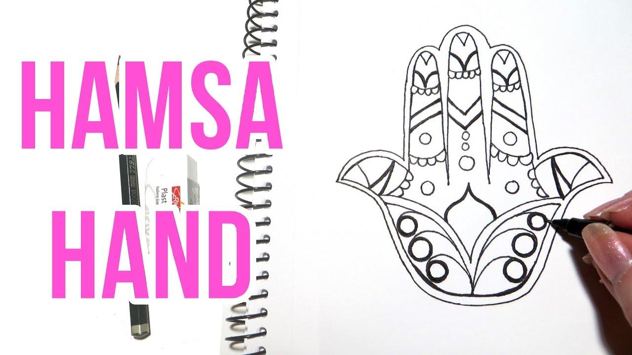 Hamsa Hand Drawing