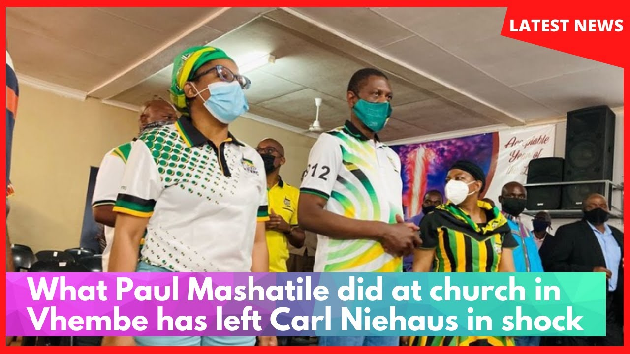 What Paul Mashatile did at church in Vhembe has left Carl Niehaus in shock