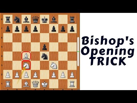 Chess Opening TRICK : Bishop's Opening (Winning the exchange by force)