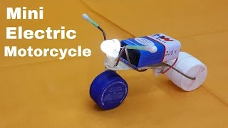 How to Make a Mini Electric Motorcycle with LED Headlight