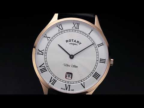 Rotary Ultra Slim Rose Gold Stainless Steel Watch - GS08304/01