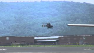 Army UH-72 Lakota helicopter landing at Capital City Airport