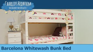 Barcelona Whitewash Bunk Bed - Charlies Bedroom