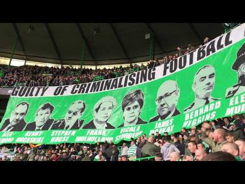 Green Brigade Display   Celtic vs Dundee   Celtic fans against the bill