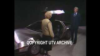 First DeLorean Car prototype showcased in UTV studio in 1980