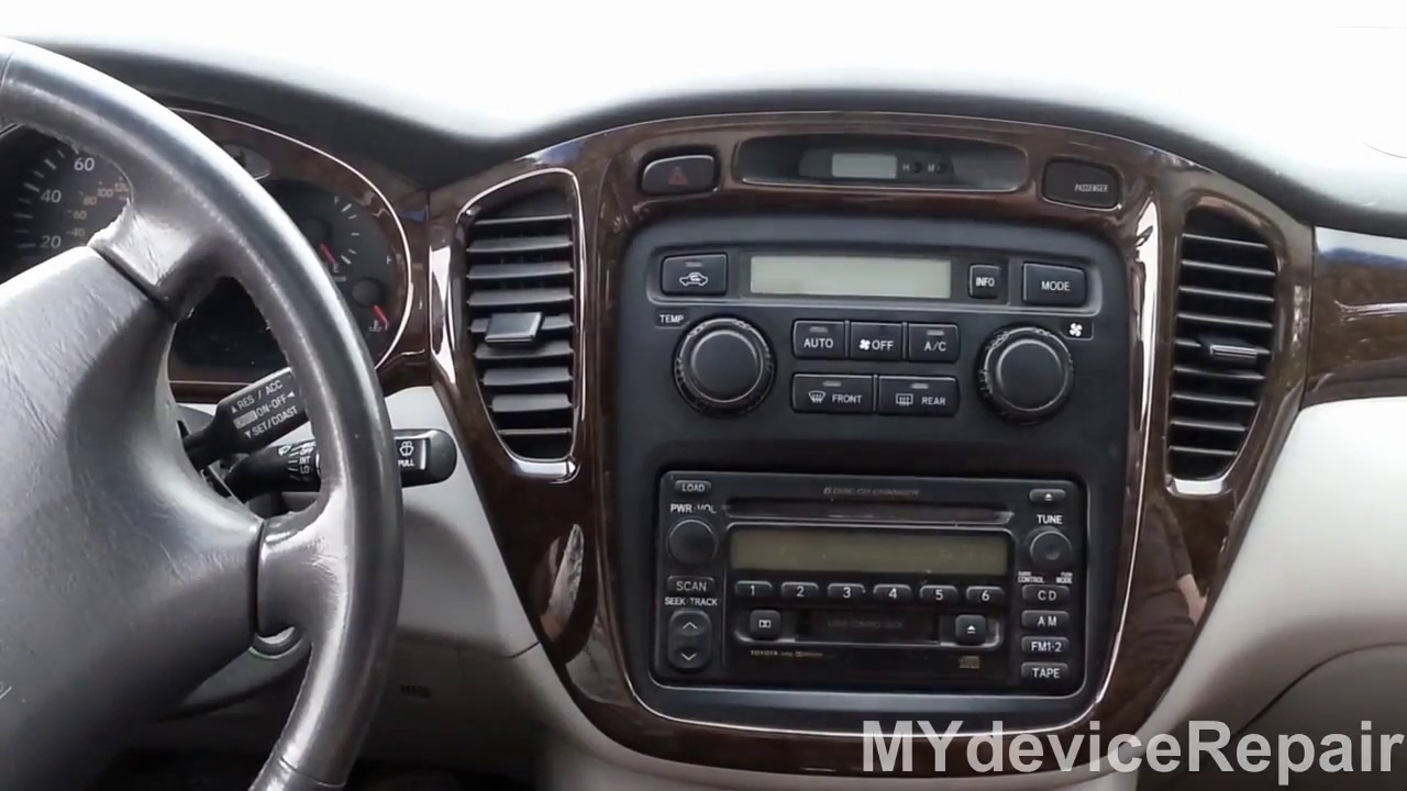 small resolution of toyota highlander climate control removal