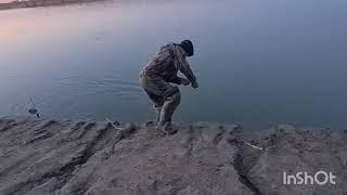 Кокжиде,  Аралтобе. Амур, сазан, сом, супер рыбалка, без подсака, одной рукой. 2-Часть.