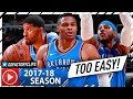 Russell Westbrook, Carmelo Anthony & Paul George BIG 3 Highlights vs Bulls (2017.10.28) - DOMINANT!