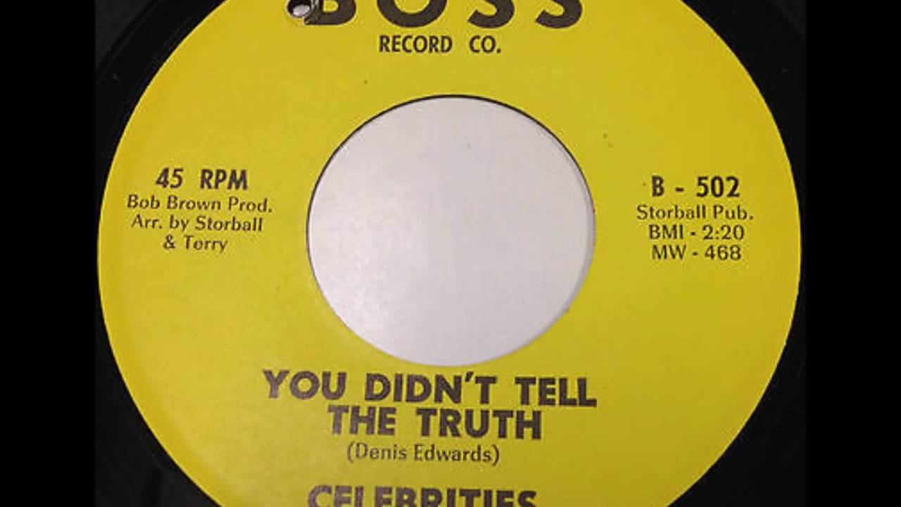 Download Celebrities - Good Night / You Didn't Tell The Truth - Boss 502 - 1964