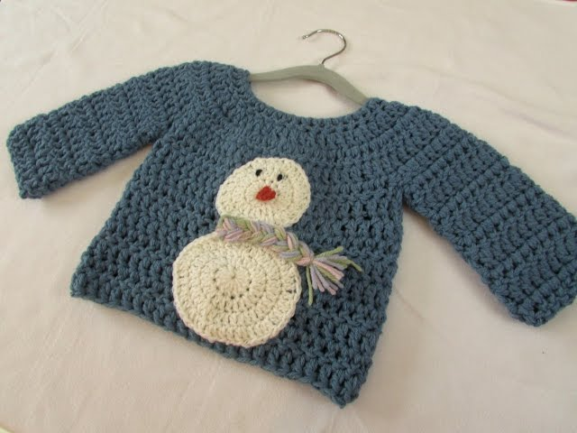 d15f8aed0730 How to crochet a children s chunky Christmas jumper   sweater ...