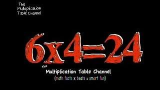 Multiplication Table 6 Song and Video Flash Cards