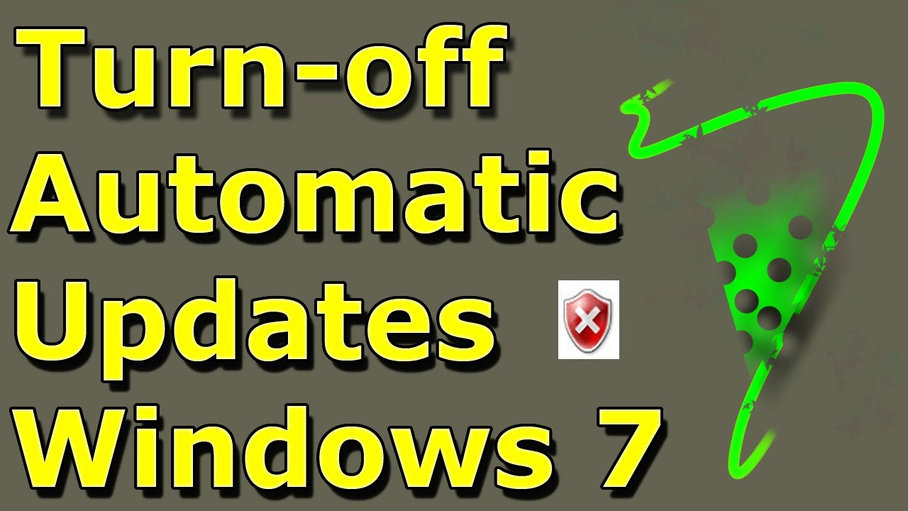 How To Disable Or Turn On Off Automatic Updates On Windows