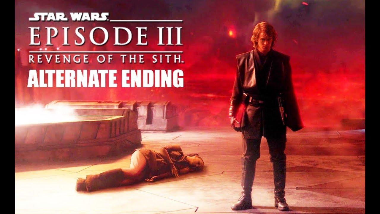 Star Wars Revenge Of The Sith Alternate Ending Scene Youtube
