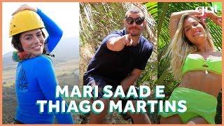 Mari Saad e Thiago Martins conhecem pontos turísticos de Noronha com Gio Ewbank | No Paraíso