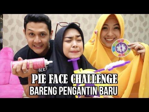 PIE FACE CHALLENGE with PENGANTIN BARU (jomblo jangan nonton deh)