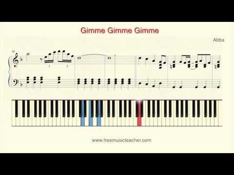 How To Play Piano: Abba Gimme Gimme Gimme Piano Tutorial  Ramin Yousefi