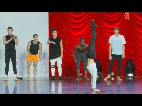 The Dance Awards Las Vegas 2018 - Senior Male Dance Off/Improv PART 2 -  JAZZ UPBEAT SONG
