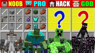 Minecraft NOOB vs PRO vs HACKER vs GOD ABILITY MUTANT CRAFTING CHALLENGE in Minecraft Animation