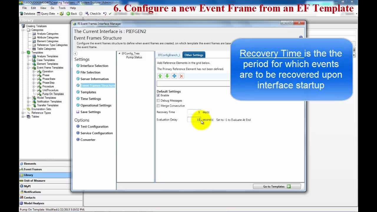 osisoft how to create pi ef events ef attributes and ef templates