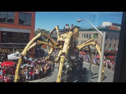 Kumo The Spider- La Machine Ottawa 2017 byward Market Canada 150 very close footage