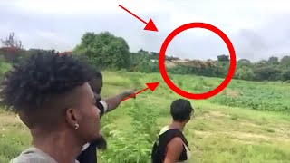 Real T Rex Dinosaur Caught On Camera walking with humans in Barbados Spotted In Real Life