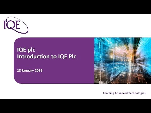IQE Investor Presentation - Mello 18th January 2016