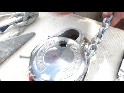 Installing a Lewmar V1 anchor winch