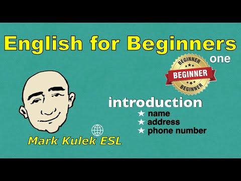 English For Beginners Series - Introduction (#1)   Mark Kulek - ESL