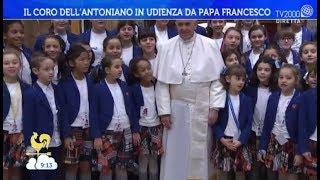Papa Francesco ha incontrato il Piccolo Coro dell'Antoniano