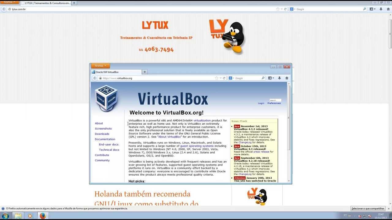 Curso de Asterisk/Linux - Instalando o Virtual Box no Windows - LYTUX